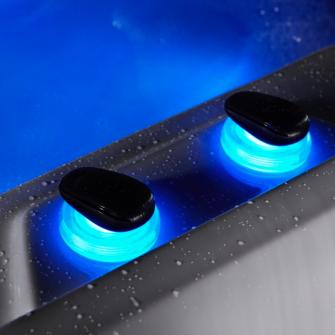 Whitewater Spas Air Diverters In Blue LED Light