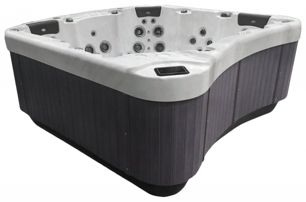 Be Well E770 Hot Tub Grey side panels in White