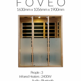 Superior Saunas Foveo Sauna spec sheet
