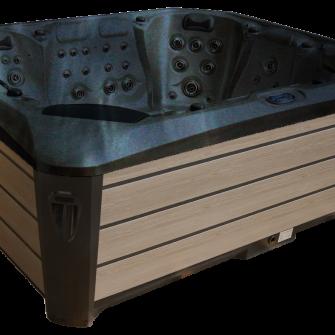 Maximus Hot Tub in black/brown