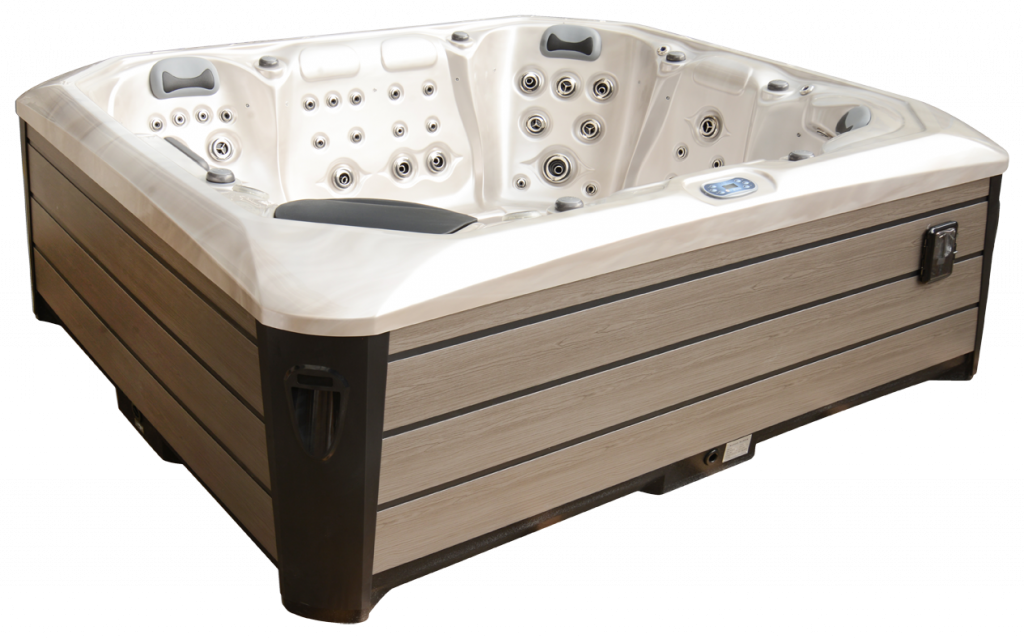 Maximus Hot tub with brown side panels